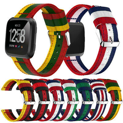 Woven Nylon for Fitbit Versa Fitness Wristbands Replacement Watch Band Strap