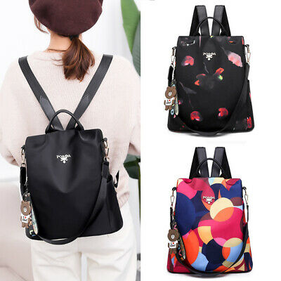 Women Waterproof Oxford Cloth Travel Backpack Girl Nylon Anti-theft School Bag