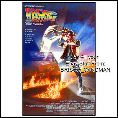 Fridge Fun Refrigerator Magnet BACK TO THE FUTURE Movie Poster Version A