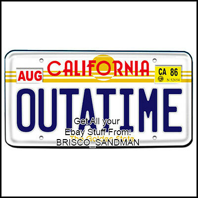 "Fridge Fun Refrigerator Magnet BACK TO THE FUTURE ""OUTATIME"" License Plate"