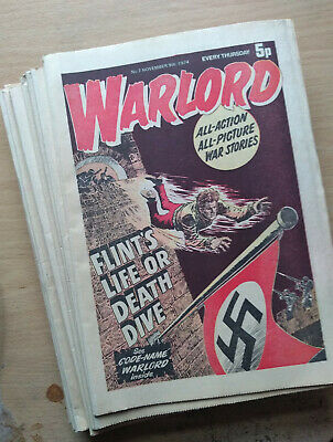 Warlord issues #7-27 inclusive, 21 issues. Classic British war comic. 1974-1975.