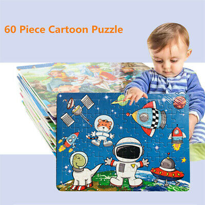 60 Piece Cartoon Puzzle Children Educational Toys Wooden Baby Kids Training Toy