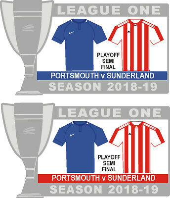 Portsmouth v Sunderland League One Playoff Semi-final Matchday Badge 2018-19