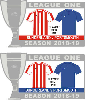 Sunderland v Portsmouth League One Playoff Semi-final Matchday Badge 2018-19