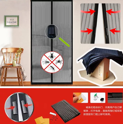 Summer Magnetic Mesh Net Anti Mosquito Insect Fly Bug Curtain Automatic Closing