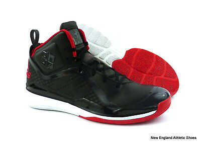 the best attitude 46fce 68c91 adidas men D Howard 5 basketball shoes sneakers Black Scarlet White size 11
