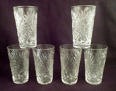 Matched Set of 6 Juice, Double-Shot, or Schnapps Glasses, 3 Oz Capacity