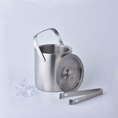 Stainless Steel Double Layer Single Layer Cover Ice Bucket Ice Clip For Bar NC