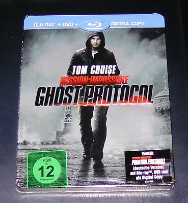 Mission: Imposible Ghost/Phantom Protocol Steelbook Marcado Blu-Ray