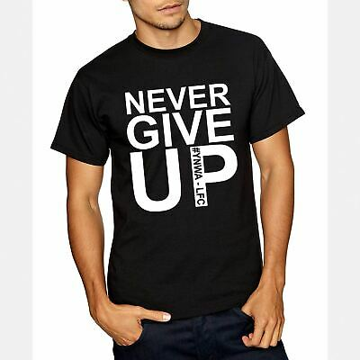 Adults Kids Never Give Up Liverpool T-Shirt Mo Salah Inspired 2019 Madrid Final