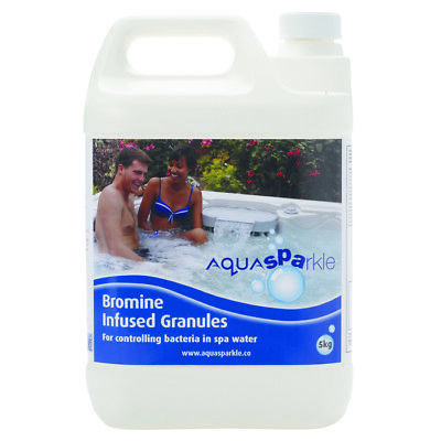 Aquasparkle 5kg Bromine Infused Granules for Hot Tub Spa Swimming Pool Chemicals
