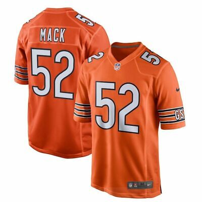 21487f4691f Khalil Mack #52 ORANGE New Chicago Bears Game Limited Jersey ALL SIZE 2019🔥