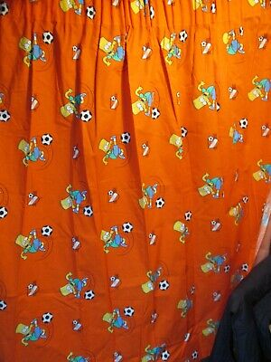 Super Pair of Authentic The Simpsons Curtains 54 Inch Drop 66 Inch Width