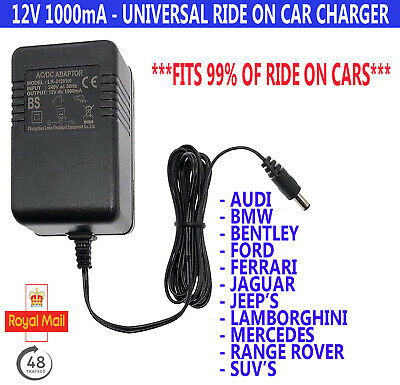 12V Replacement Universal Battery Ride On Car Charger for Toy and Jeeps 12v1000