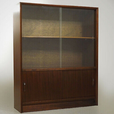 Glazed Bookcase / Sideboard (delivery available) Herbert Gibbs 1950s Retro
