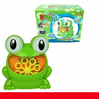 Children Water Blowing Toys Bubble Soap Bubble Blower Outdoor Kids Child Frog NW