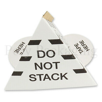 10 x Cardboard Pallet Cones 'DO NOT STACK'  Warning Triangles SAFE STOP GUARDS