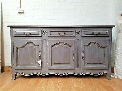 Stunning Vintage French Painted Oak Sideboard - C1950