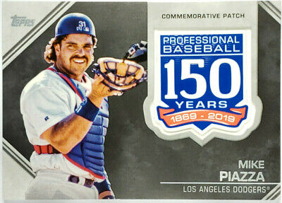 2019 Topps Series 1 MIKE PIAZZA 150 Years Patch Relic Dodgers