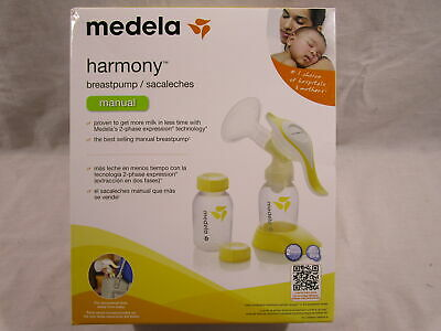 Medela Harmony Manual Breast Pump WIth Pumb And Bottles For Storage