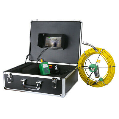 "30M Sewer Waterproof Camera 7"" LCD Drain Pipe Pipeline Inspection System DVR 8GB"