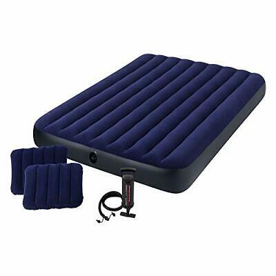 Intex 68765E Classic Downy Airbed Set with 2 Pillows and Double Quick Hand Pump