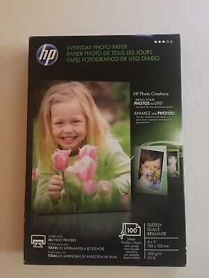 New Sealed Pack HP Everyday Photo Paper Glossy 4x6 100 Sheets Prod# Q5440A