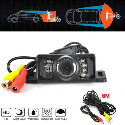 170 CMOS Car Reverse Rear View Backup Camera 7 IR Night Vision Parking CamRA RU