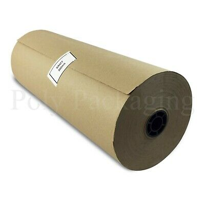 "100m x 500mm/20"" Wide Rolls BROWN KRAFT WRAPPING PAPER Posting Parcels Postal"