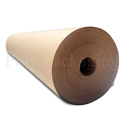 "50m x 600mm/24"" Wide Rolls BROWN KRAFT WRAPPING PAPER Postal Packaging Packing"