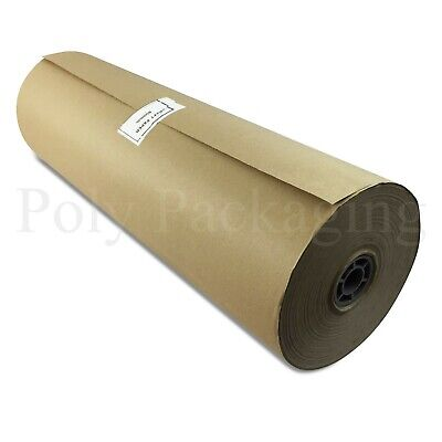 """225m x 600mm/24"""" Wide Rolls BROWN KRAFT WRAPPING PAPER Postal Packaging Packing"""