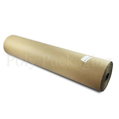 """3 x 225m x 900mm/35"""" Wide Rolls BROWN KRAFT WRAPPING PAPER Pack Posting Parcels"""