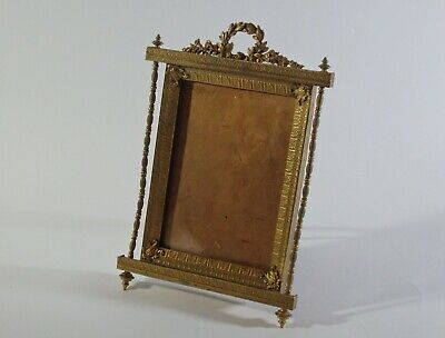 Antique French Brass Photo Frame-19Th Century