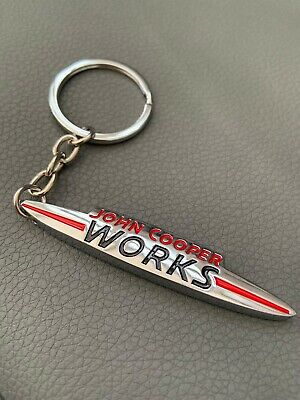 Jcw Mini John Cooper Works Solid Metal Double Sided Keyring Buy 2 Get 1 Free