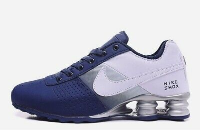 new styles 82645 c5f2a New Nike Shox Deliver Mens Shoes Blue   white