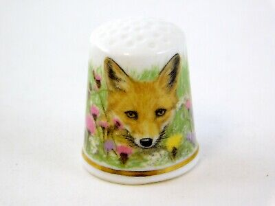 Thimble Collectors Club Avonvale Fox Cub Thimble with Card Made in England UK