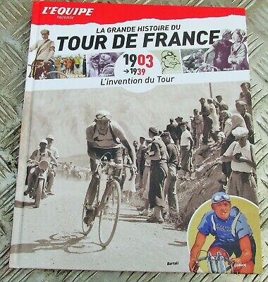 L,Equipe Tour De France History Book, Cycling french  Collectable Alcyon