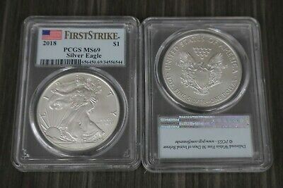 2018 First Strike PCGS MS69 Silver American Eagle