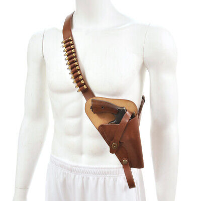 US WW2 M3 Victory Revolver Pilots Shoulder Holster Premium Leather Shell Loops