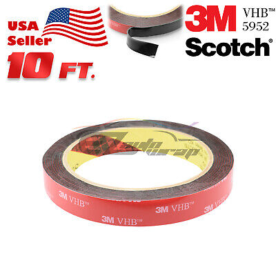"Genuine 3M VHB #5952 Double-Sided Mounting Foam Tape Automotive Car 1.5"" x 10FT"