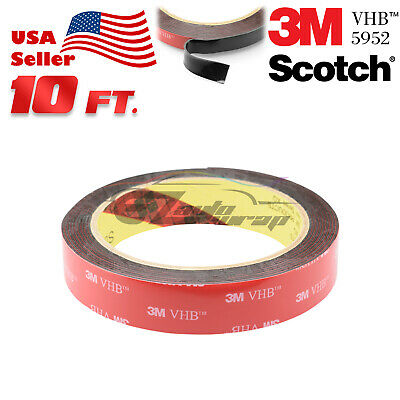 "Genuine 3M VHB #5952 Double-Sided Mounting Foam Tape Automotive Car 2"" x 10FT"