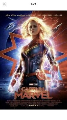 Marvel Captain marvel FINAL POSTER 27x40 DS NEW One Sheet NEW