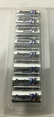 Bulk Pack of 8 Fresh Energizer CR123A 3V Lithium 123A Batteries Dated Dec-2028