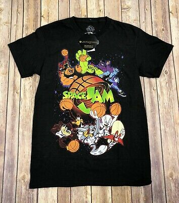 d230c4e1c99a Space Jam Tune Squad Looney Tunes Bugs Bunny Daffy Taz Men s T-Shirt Small