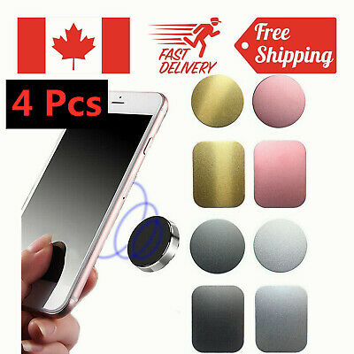 4X Metal Plate Adhesive Sticker Replace For Mount Magnetic Car Cell Phone Holder