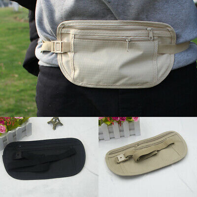 Pouch Hidden Wallet Passport Money Waist Belt Bag Ultra-thin Secret Security