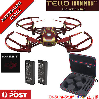 DJI Ryze Tello Iron Man Edition Camera Drone 2 X Batteries + Carry Case