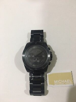 4baf05f69d22 MICHAEL KORS BRECKEN Chronograph matte Black IP Mens Watch MK8482 ...