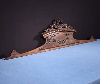"*48"" French Antique Pediment/Crest in Oak Wood Salvage"