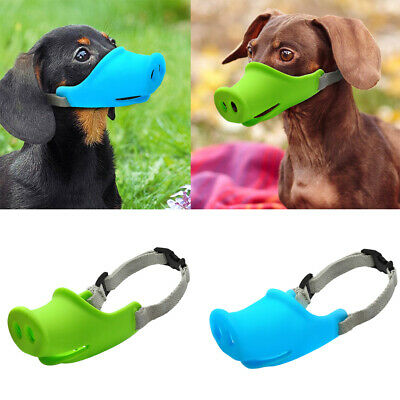 1X Dog Muzzle Anti Stop Bite Barking Chewing Mesh Mask Training Small Large